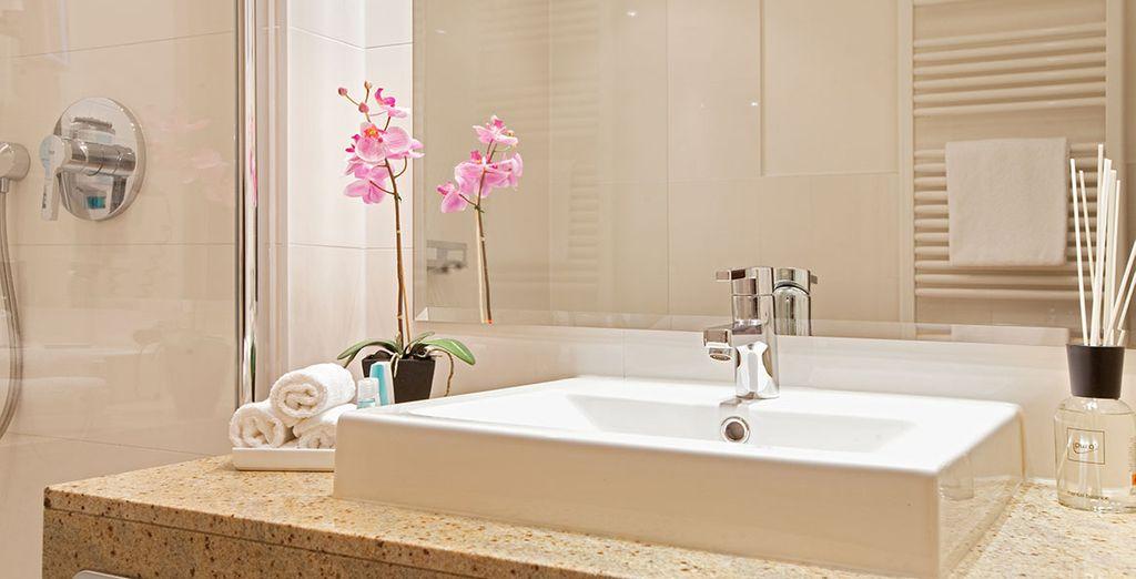 Met een mooie badkamer
