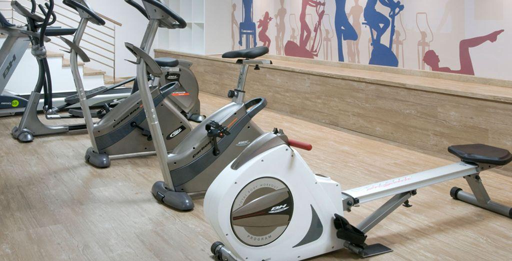 Werk aan uw conditie in de fitnessruimte