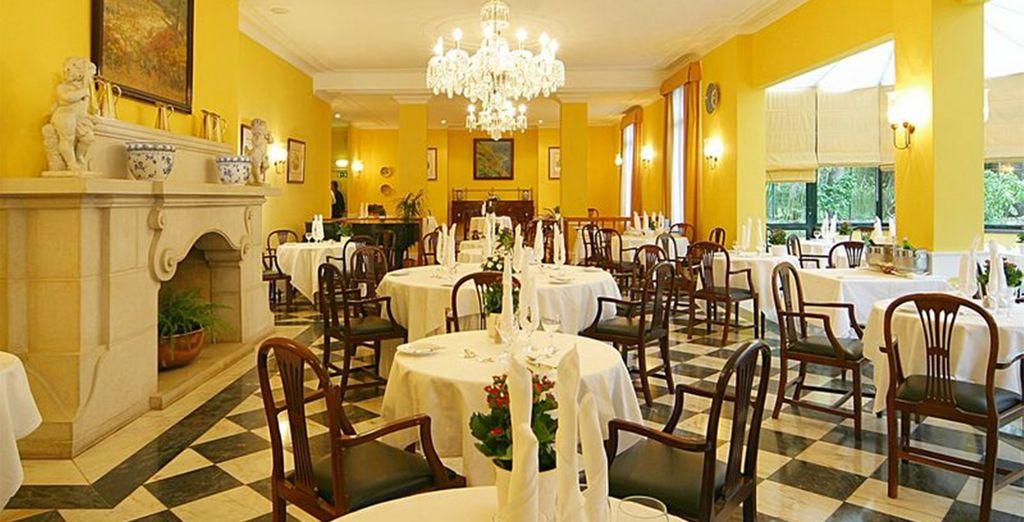 In het elegante restaurant
