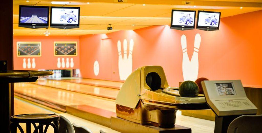 Laat u zien wie de beste is op de bowlingbaan...