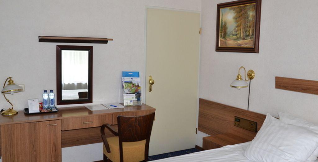 U logeert in een comfortabele Standaard Kamer