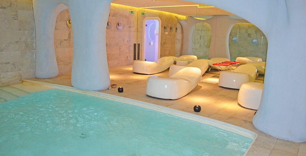 Geniet van de rustgevende spa