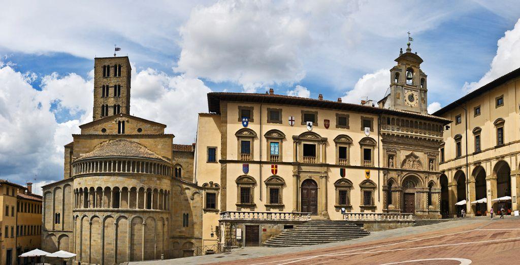 Ontdek de stad Arezzo, de thuishaven van de middeleeuwse pleinen