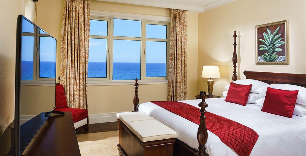 Kom tot rust in uw Ocean View Suite met 1 slaapkamer