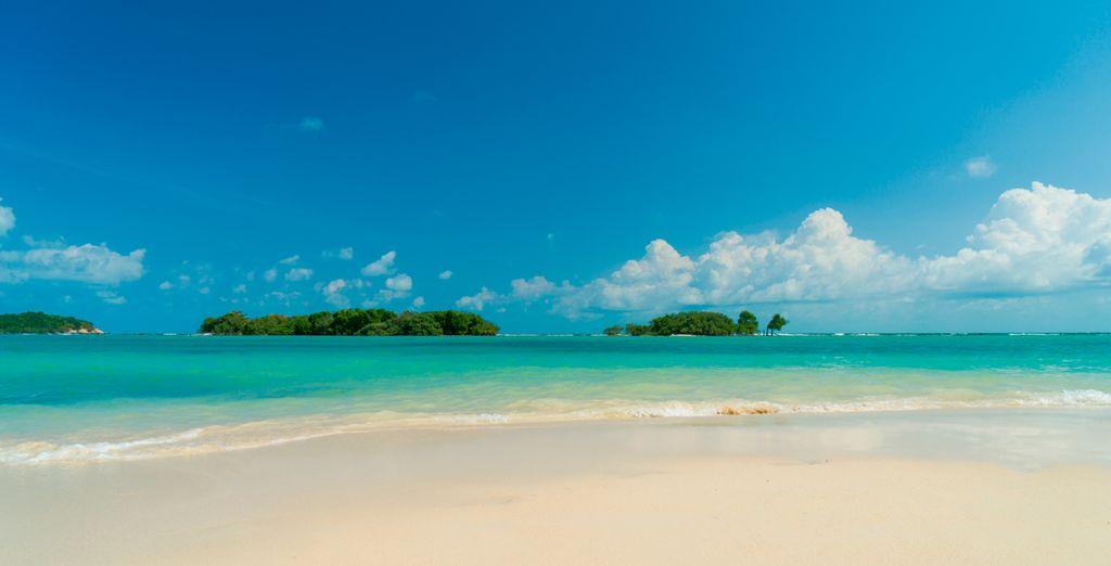 Witte zandstranden en turquoise wateren wachten op u