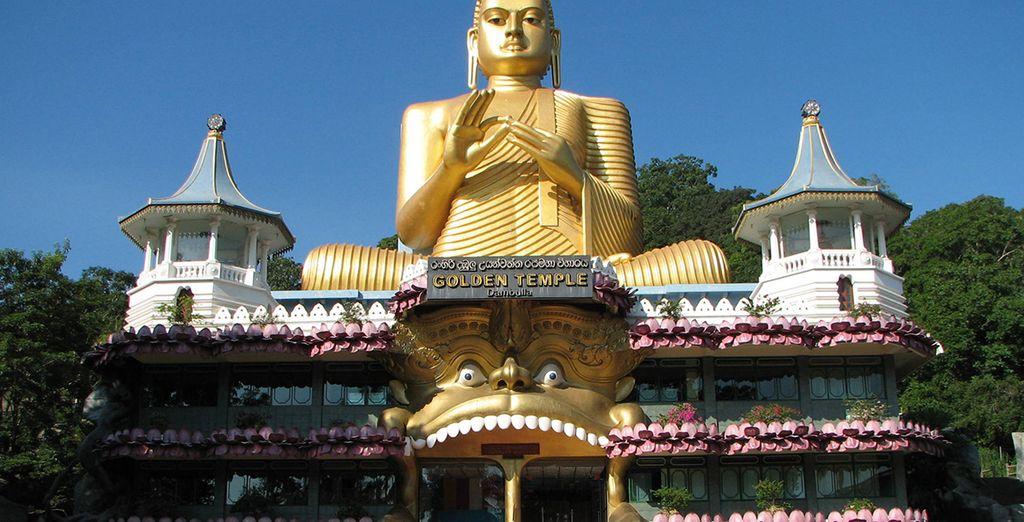 Zoals de Gouden Tempel in Dambulla