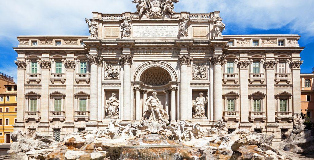 Gooi een muntje in de Trevi-fontein