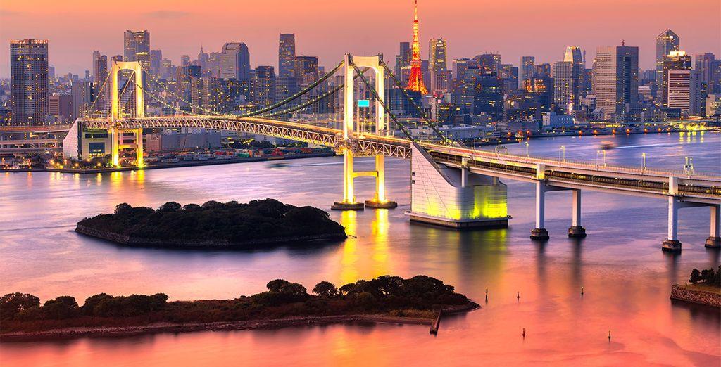 Uw reis begint in Tokyo