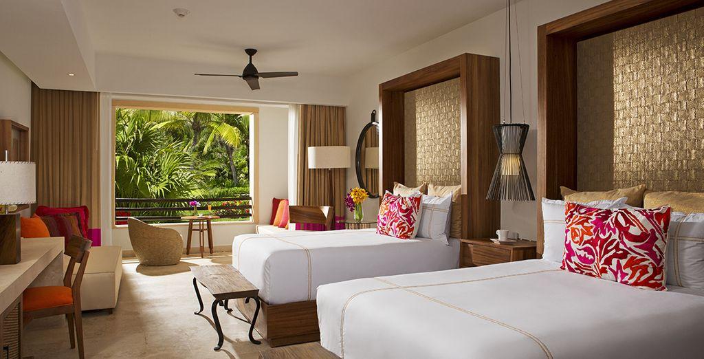U verblijft in een Junior Suite Tropical View