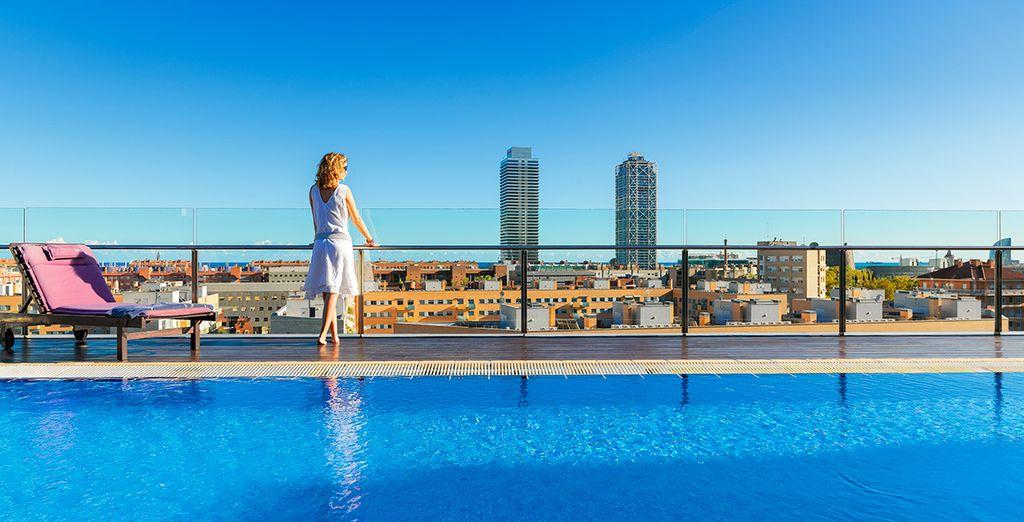 Het Skyline Terras van het H10 Marina Barcelona