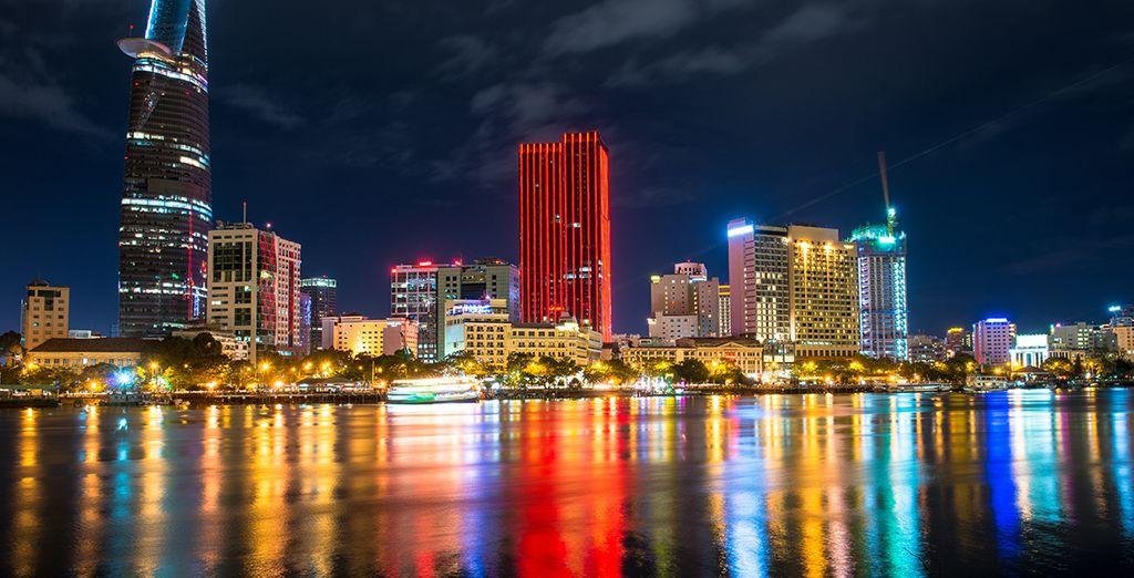 En omdat deze luxe geen grenzen kent, zal u uw reis beëindigen in de mythische stad D'Ho Chi Minh