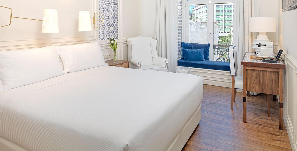 Verblijf in een standaard kamer, comfortabel en licht