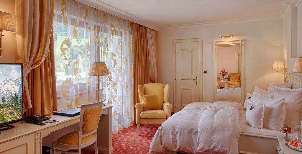 U verblijft in een comfortabele Palace Kamer