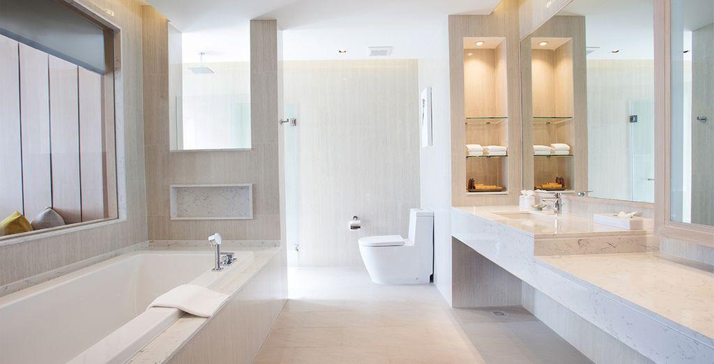 Met een aantrekkelijke badkamer