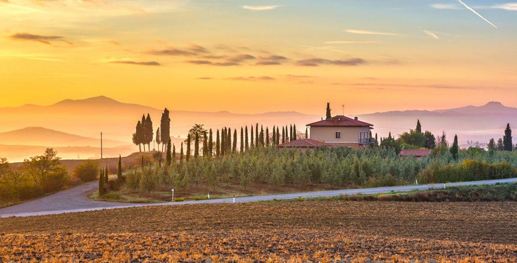 En de prachtige landschappen van Toscane!