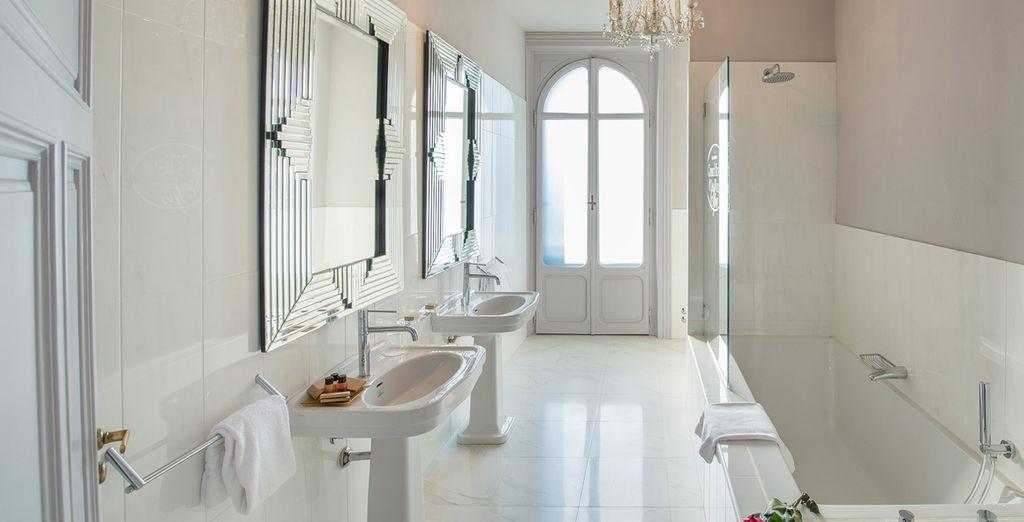 Met een chique badkamer