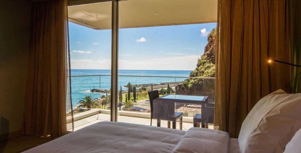 Of een kamer met zijdelings uitzicht op zee