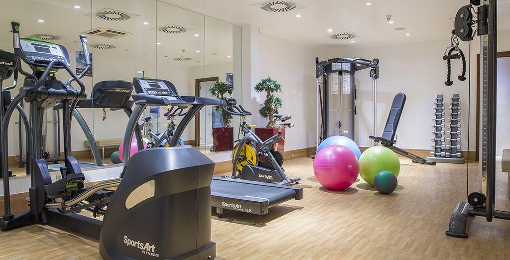 Of u kunt in conditie blijven door een bezoekje aan de fitnessruimte