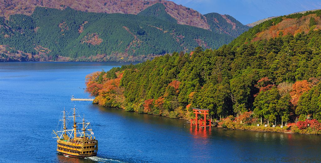 Hakone, grenzend aan Mount Fuji