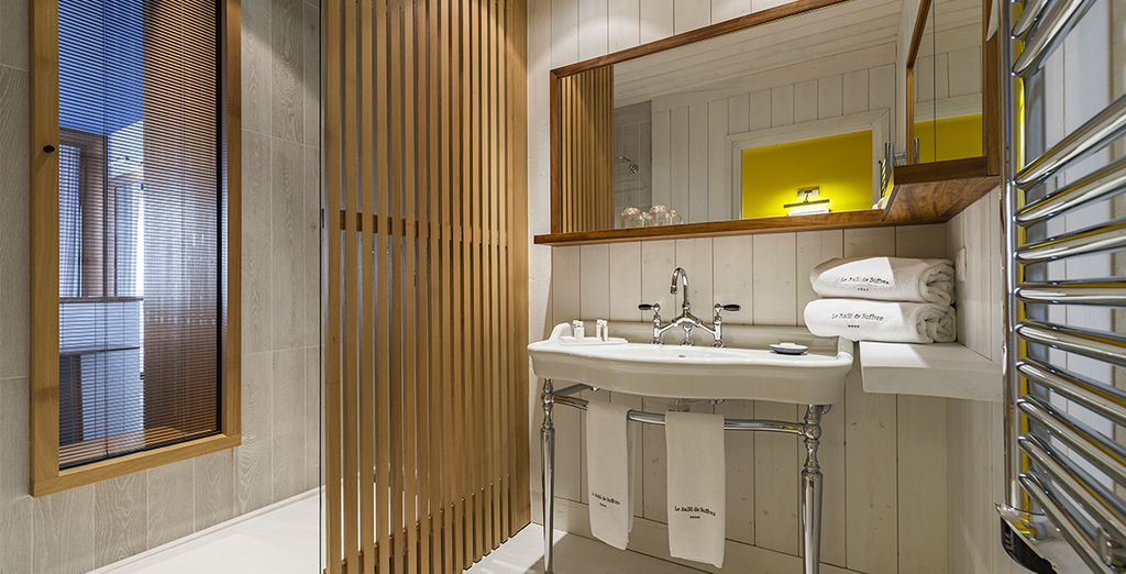 En een luxueuze badkamer