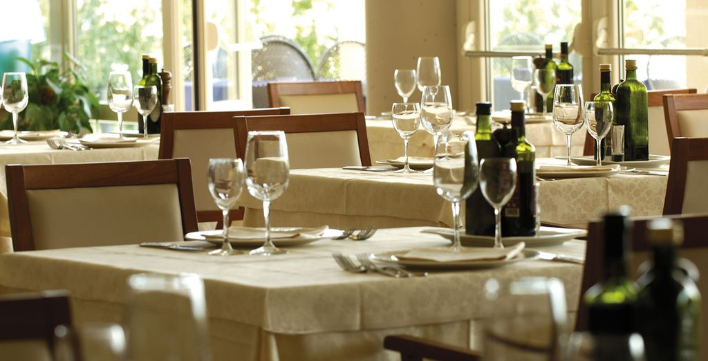 Dine in the traditional Tuscan restaurant