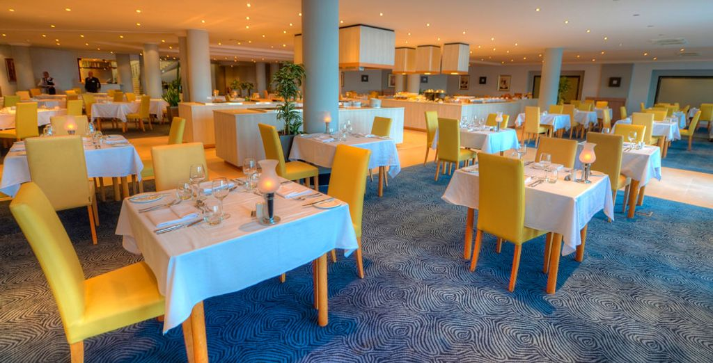 Enjoy a meal at one of the hotel's restaurants