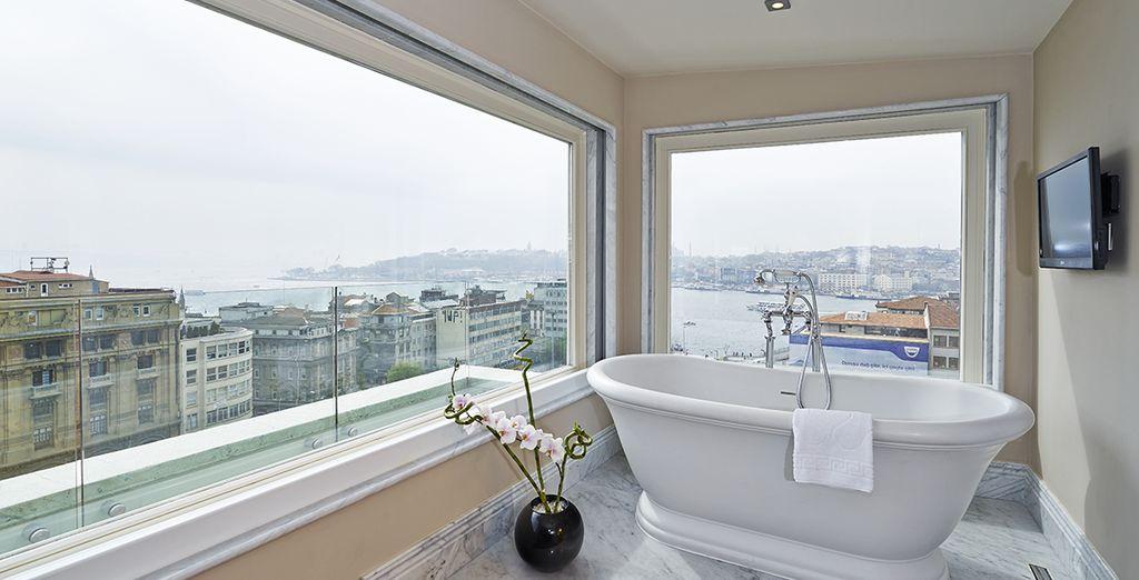 And a stunning bathroom!