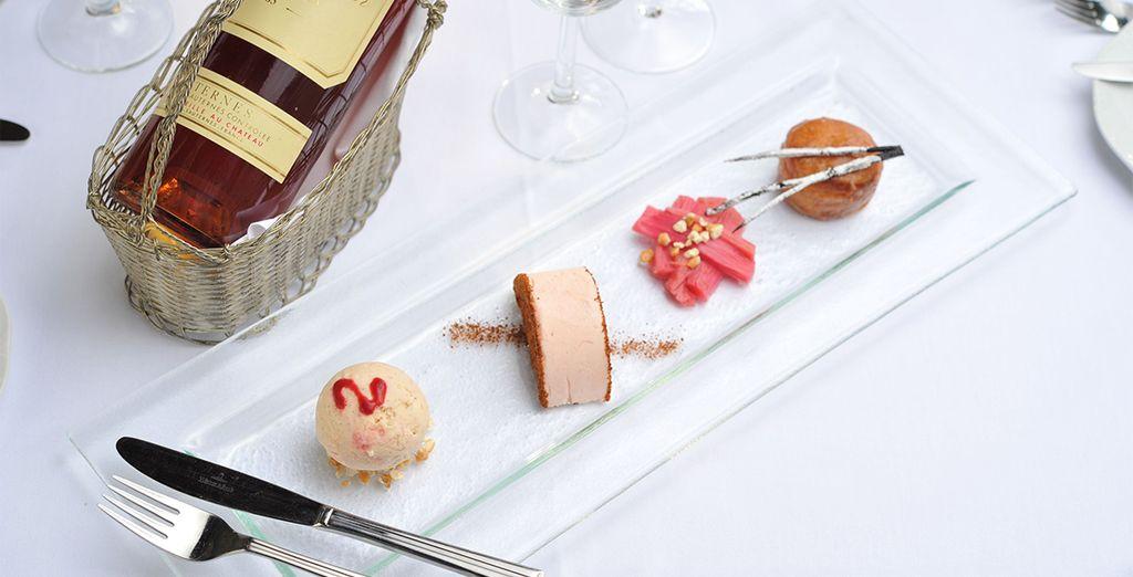 Enjoy exquisite food too
