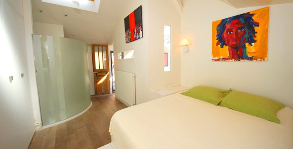 Each room is vibrantly decorated