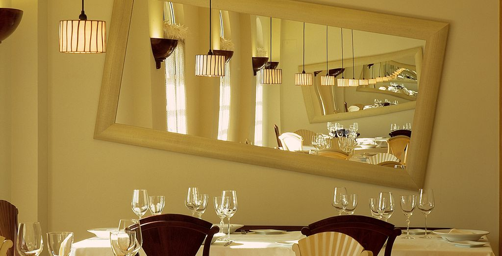 Enjoy a meal at the hotel restaurant