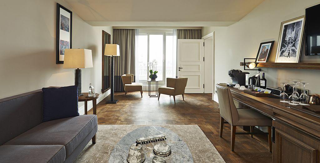 Featuring a beautiful lounge