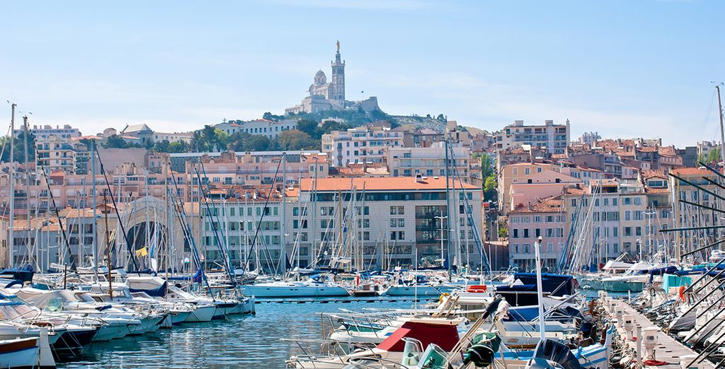 Head for the Marseille's famous