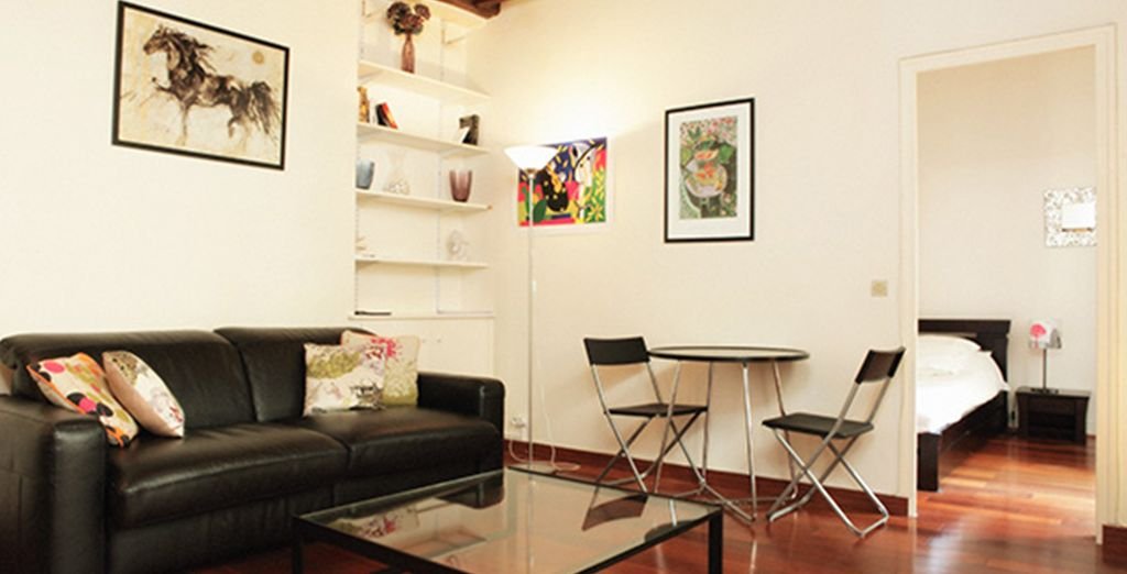 And stay in a modern and chic apartment