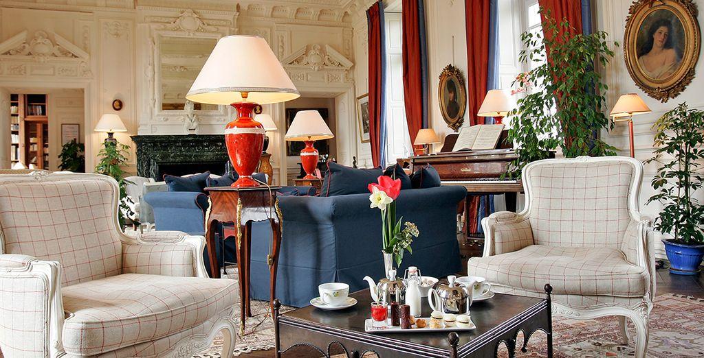 Interiors are elegant and historic
