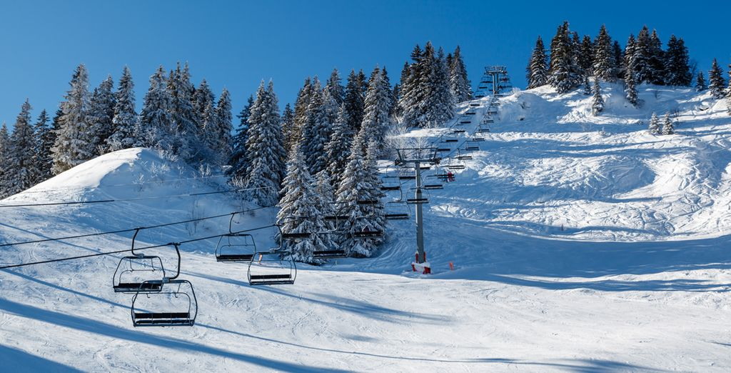 Make the most of the ideal location within the Evasion Mont Blanc ski area