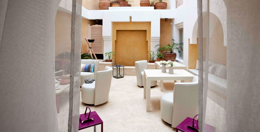 Settle into the Dar Maya boutique-hotel