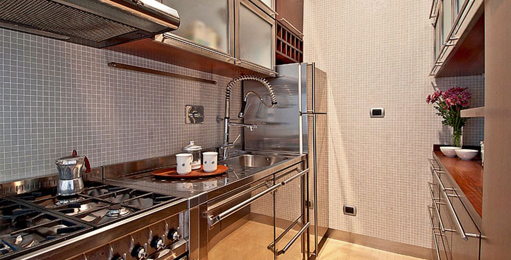 Apartment 1: And swanky kitchen - all situated near the Vatican!