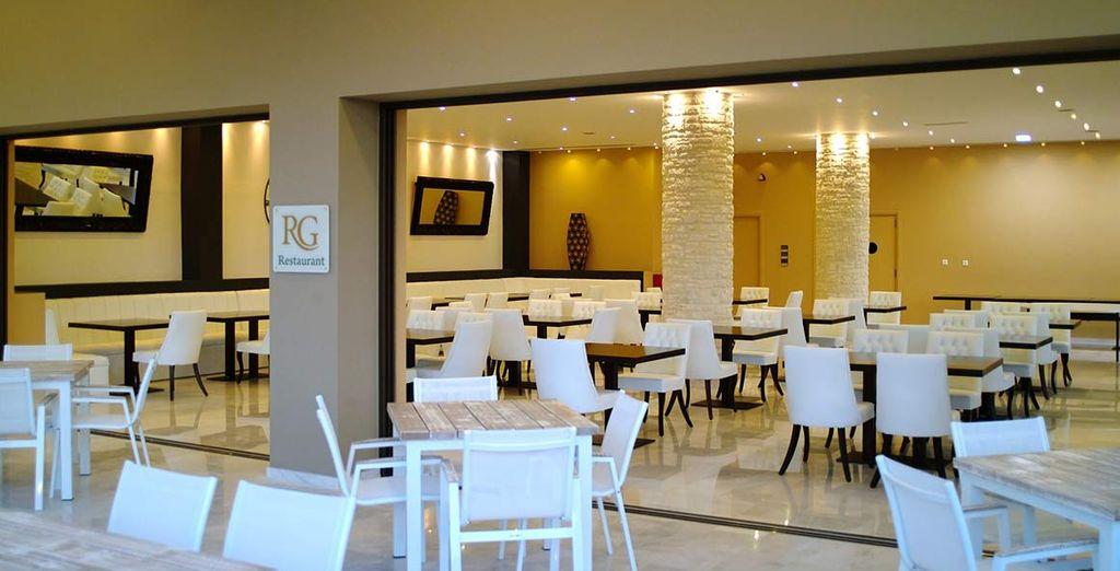 Enjoy meals in the Hotel restaurant