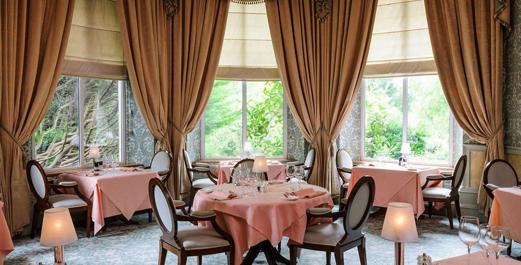Make the most of the fantastic on-site restaurant