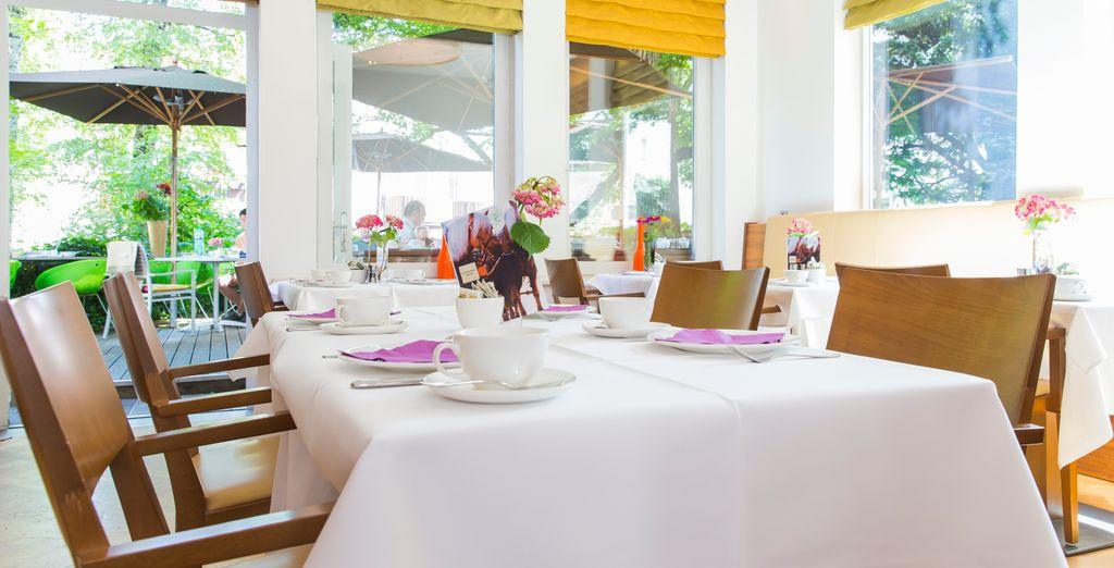 Enjoy a delicious organic breakfast...
