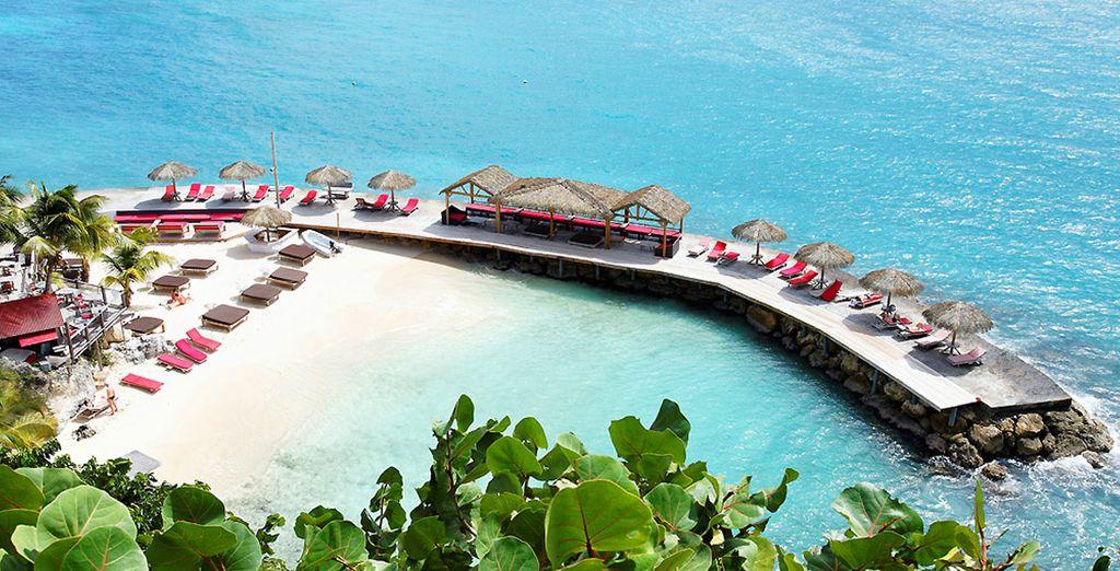 An idyllic sandy beach...