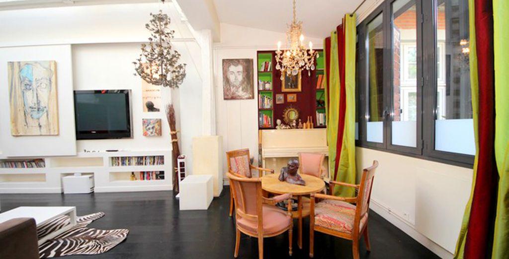 Lounge amongst the lavish decor
