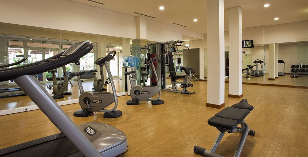 Stay in shape thanks to the fitness room