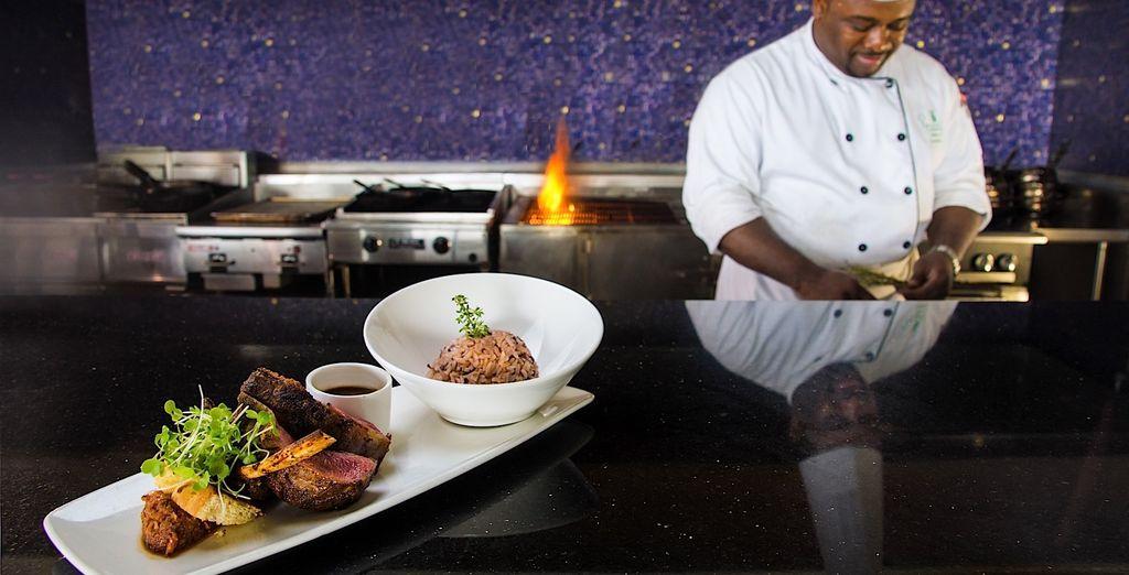 Your taste-buds will rejoice in the hotel restaurants