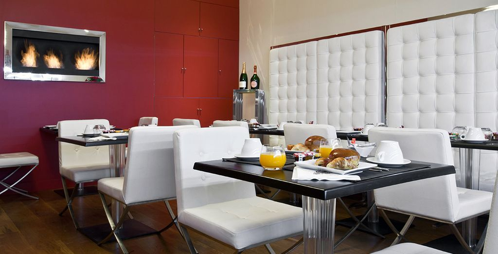 Enjoy the intimacy of the modern yet charming space