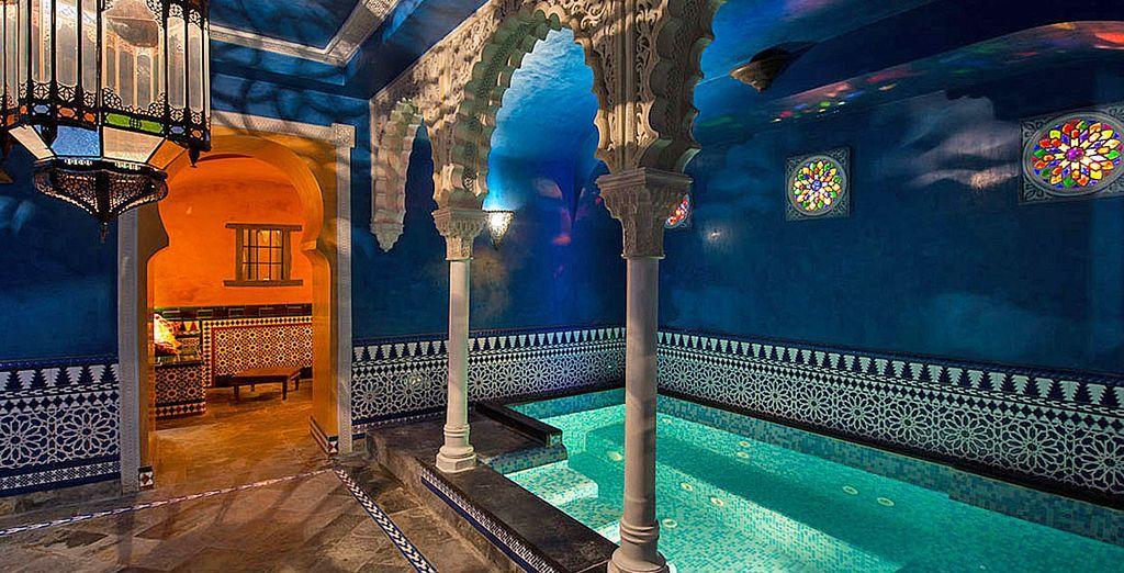 Not least the impressive spa!