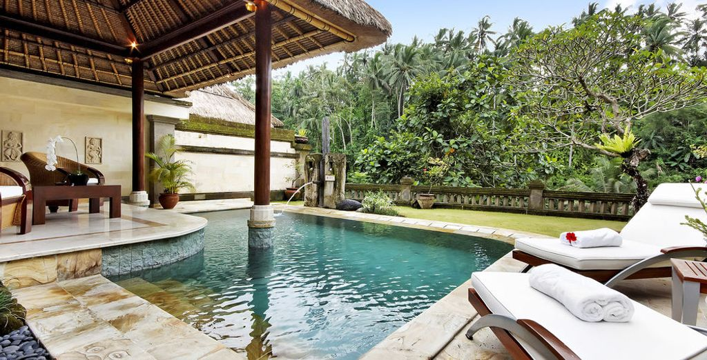 Blending contemporary design and traditional Balinese architecture, enjoy the Vice Regal Villa
