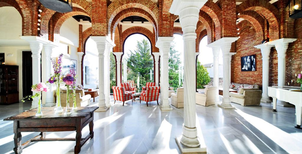 The hotel interior will immerse you in Andalusian tradition