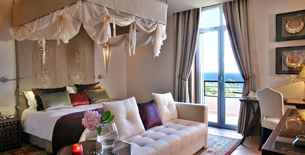 Stay in either a Deluxe Sea View Room