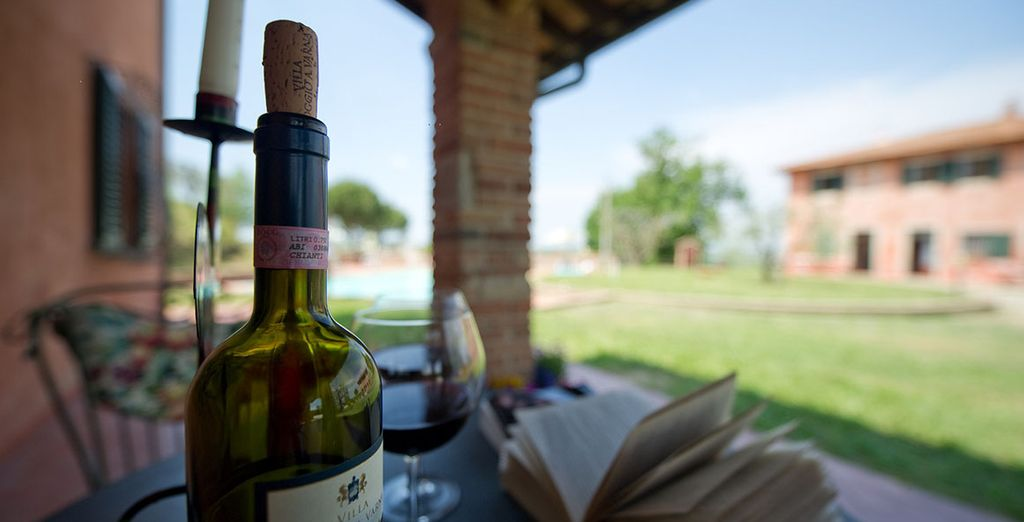 Relax with a bottle of Chianti - for which this region is famed